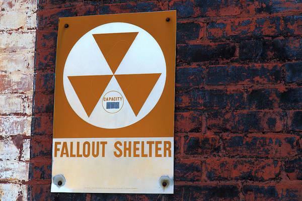 Photograph - Fallout Shelter Sign  by Doug Camara
