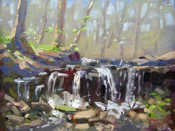 Wall Art - Painting - Falls At Lockport Nature Trail by Ylli Haruni