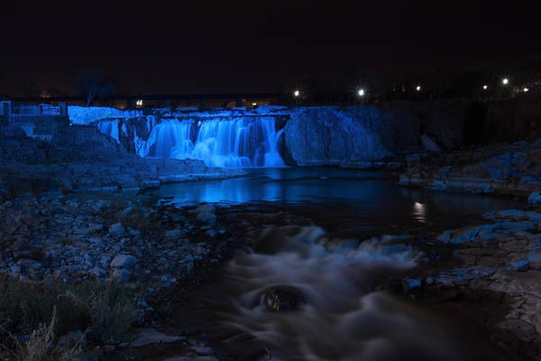 Photograph - Falls In Blue by Tom Woll