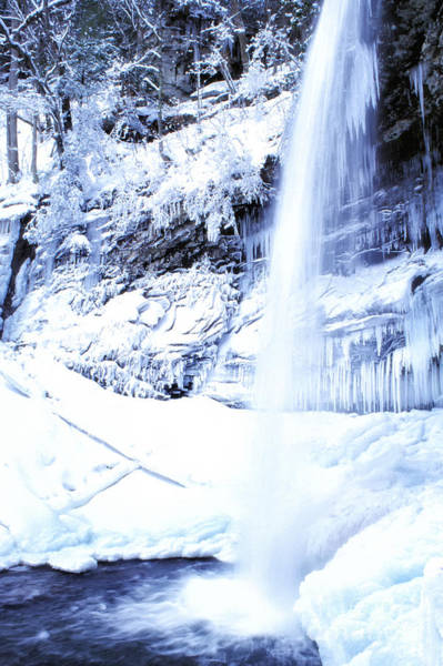 Photograph - Falls Of Hills Creek Winter by Thomas R Fletcher