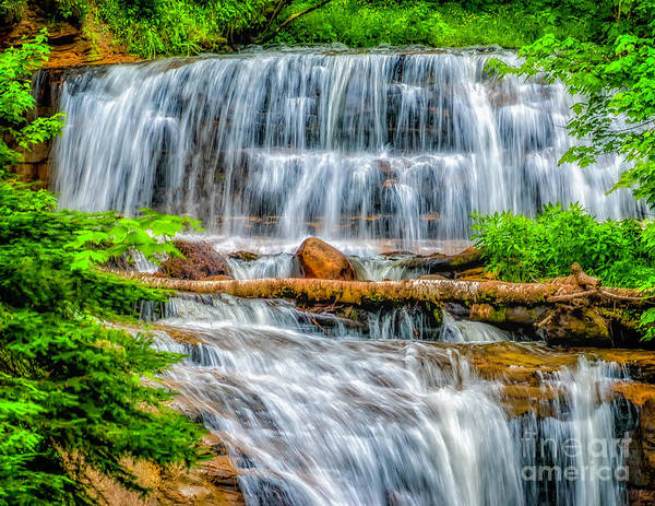 Photograph - Falls On Sable Creek by Nick Zelinsky