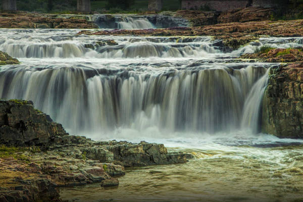 Photograph - Falls Park Waterfalls At Sioux Falls In South Dakota by Randall Nyhof