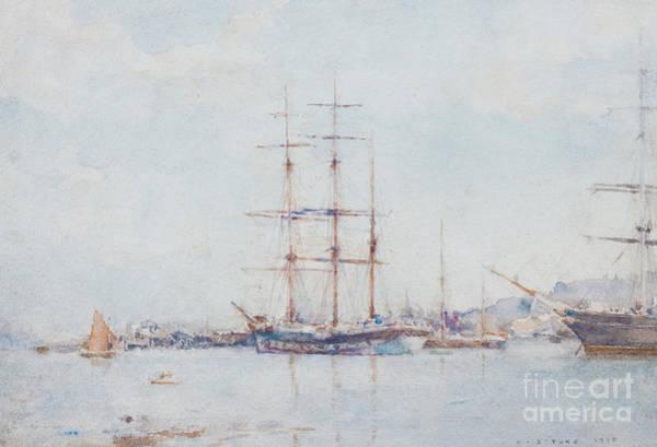 Wall Art - Painting - Falmouth Bay by Henry Scott Tuke