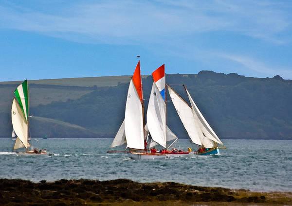 Mixed Media - Falmouth Reggatta  by Brian Roscorla
