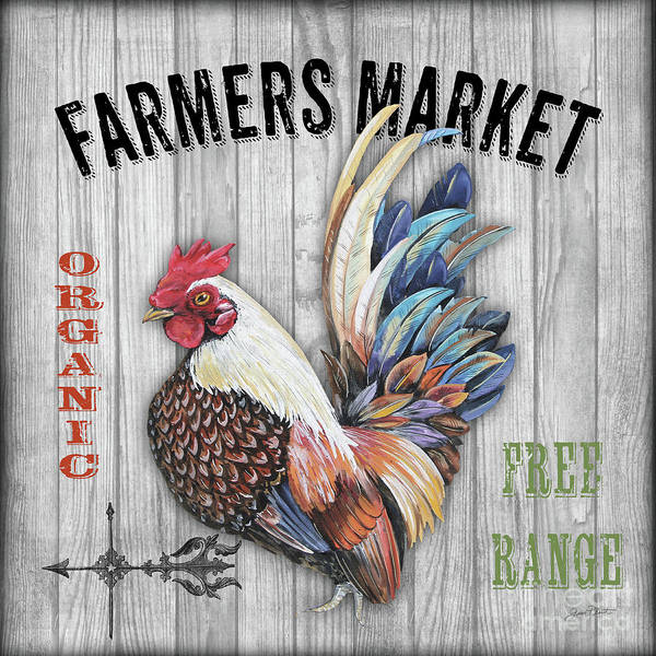 Wall Art - Mixed Media - Farmers Market 2 by Jean Plout