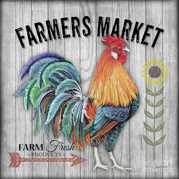 Wall Art - Mixed Media - Farmers Market 3 by Jean Plout