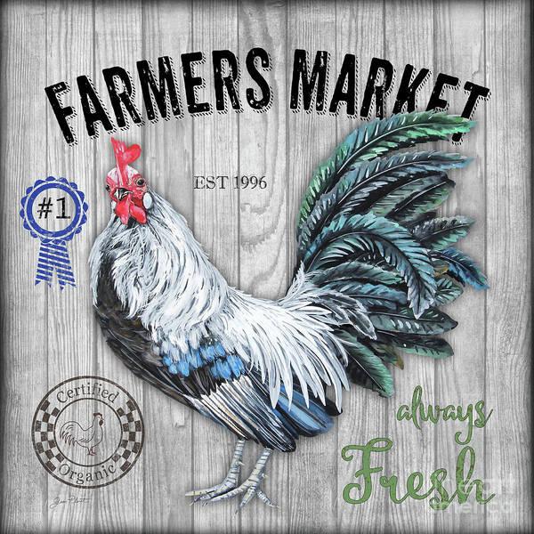 Wall Art - Mixed Media - Farmers Market 4 by Jean Plout