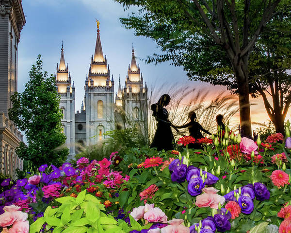 Mormon Photograph - Families Are Forever by La Rae  Roberts