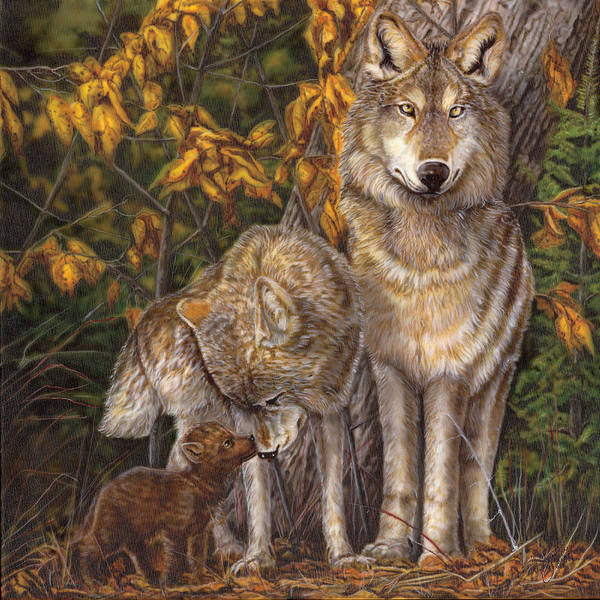 North Dakota Painting - Family Affair by Wayne Pruse