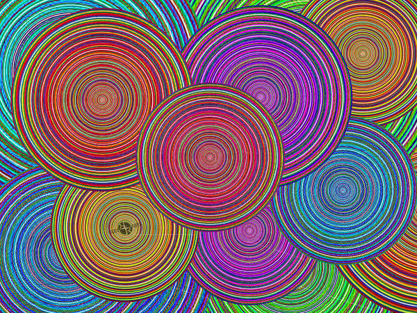 Blending Painting - Family Circles Old And Young Unite 1 by Tony Rubino