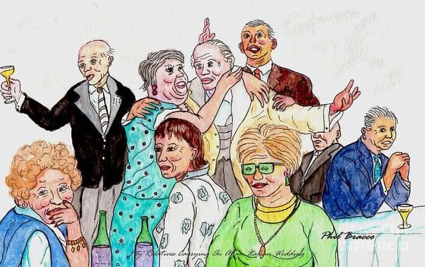 Mixed Media - Family Having Fun At Football Wedding by Philip Bracco