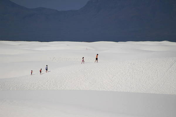 Photograph - Family Hiking The White Sands by Colleen Cornelius