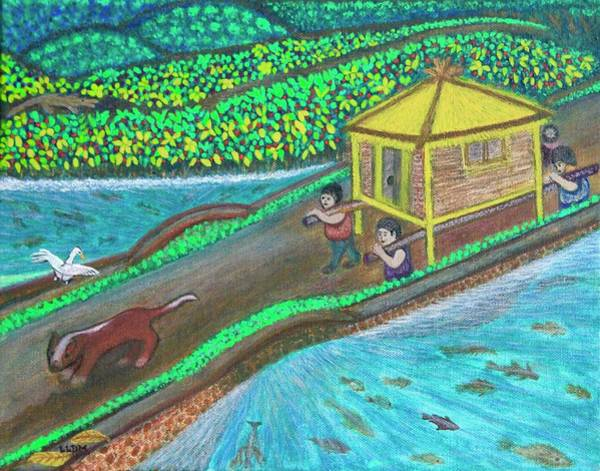 Painting - Family Hut by Lorna Maza