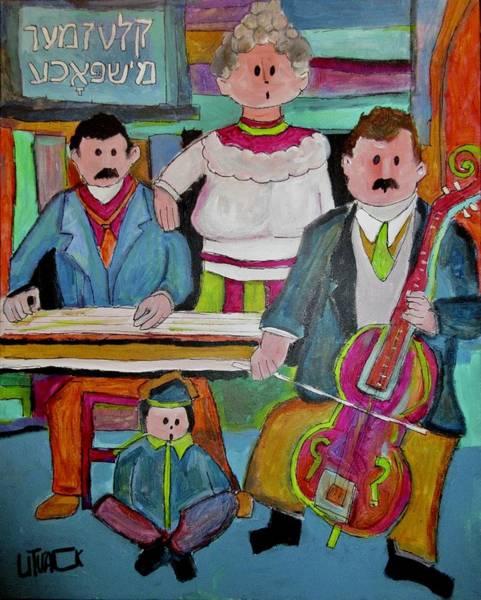 Klezmer Band Wall Art - Painting - Family Klezmer Band Duet by Michael Litvack