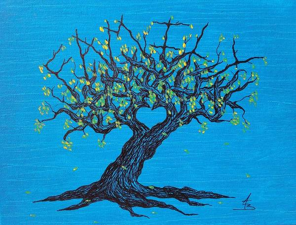 Drawing - Family Love Tree by Aaron Bombalicki