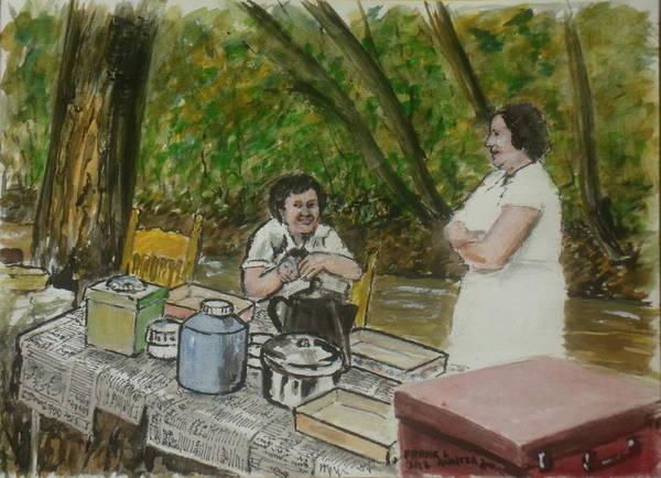 Painting - Family Picnic Along White Oak Creek Sardinia Ohio by Frank Hunter