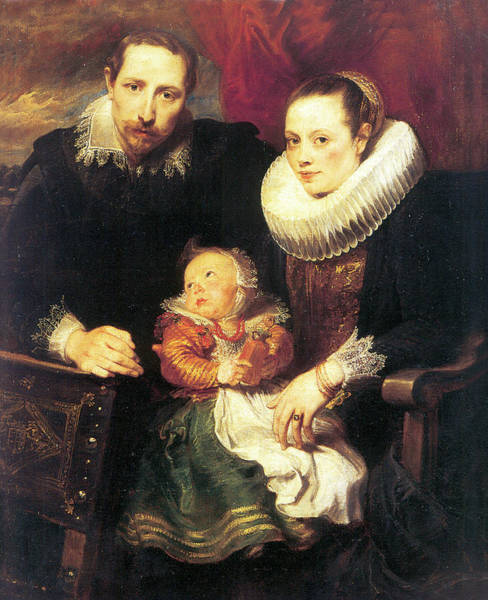 Photograph - Family Portrait by Anthony van Dyck