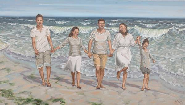 Painting -  Ocean Brothers And Sisters by Gary M Long