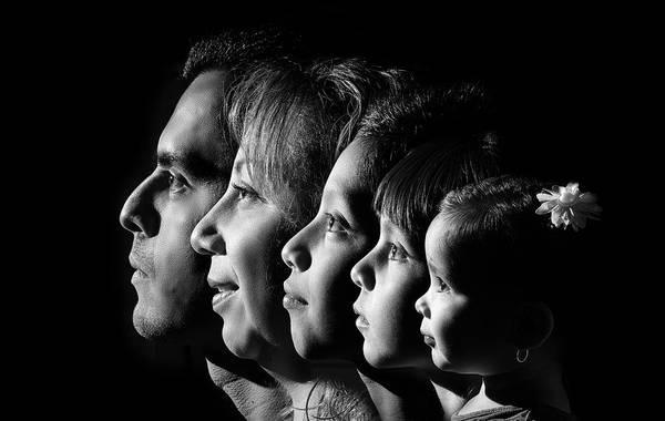 Darkside Photograph - Family Profile by Gerardo Hernandez