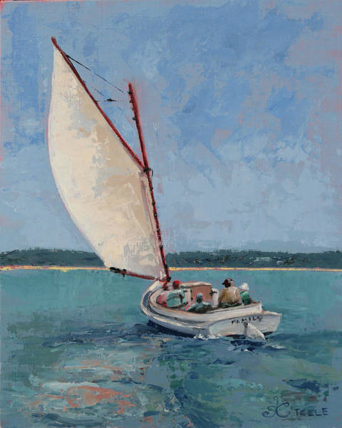 Painting - Family Sail by Trina Teele