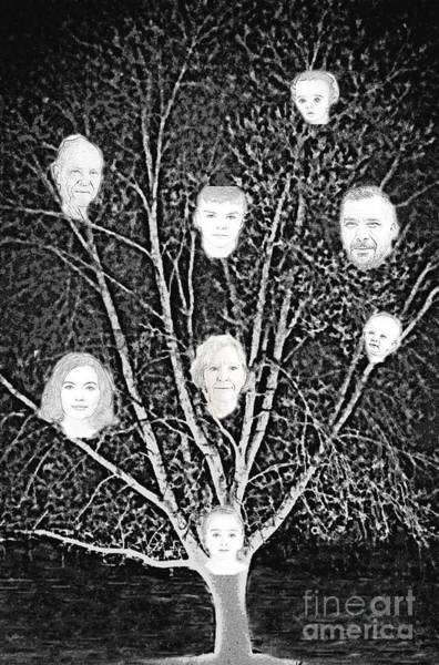 Digital Art - Family Tree by Diamante Lavendar