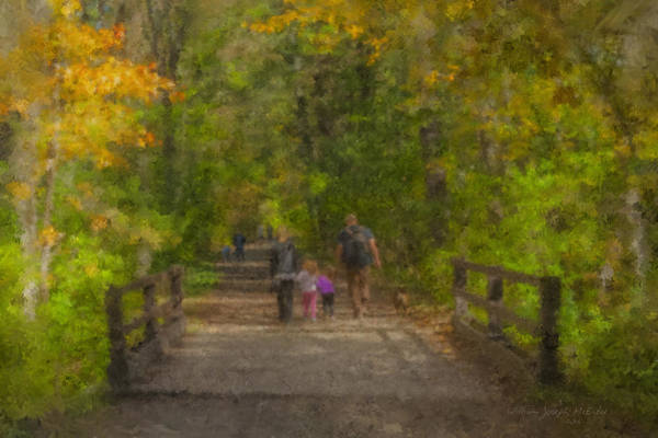 Family Walk At Borderland Art Print