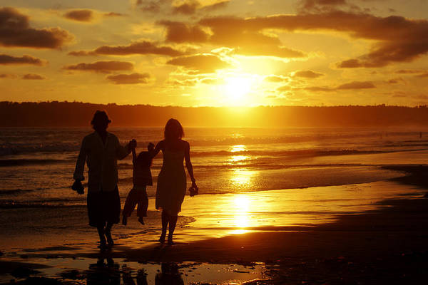 Photograph - Family Walk On Beach by Jill Reger