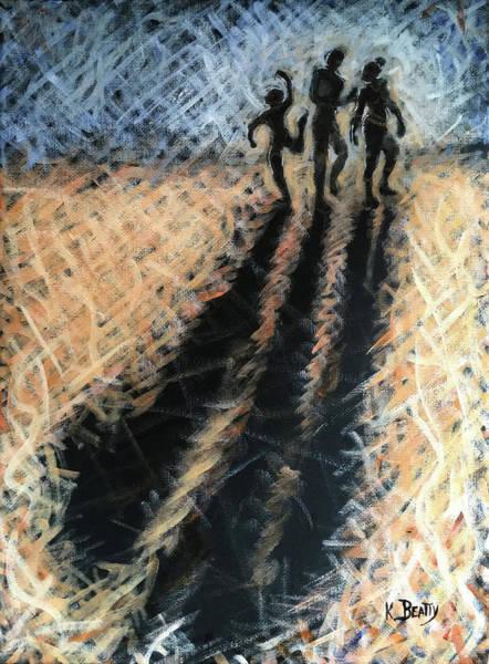 Wall Art - Painting - Family Walking by Karla Beatty
