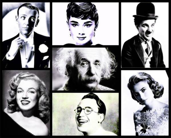 Lloyd Digital Art - Famous Faces by Esoterica Art Agency