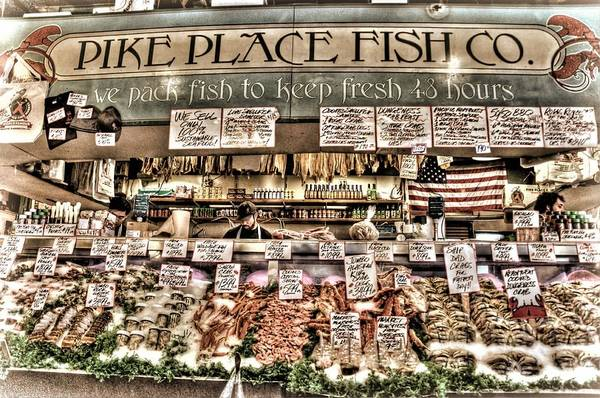 Pikes Place Wall Art - Photograph - Famous Fish At Pike Place Market by Spencer McDonald