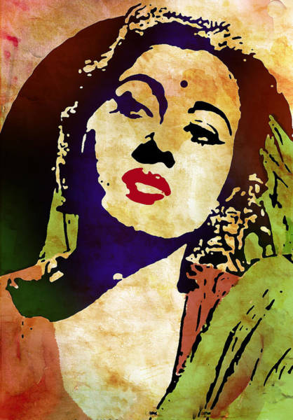 Bollywood Wall Art - Digital Art - Famous Hindi Movie Actress Madhubala by Susmita Mishra