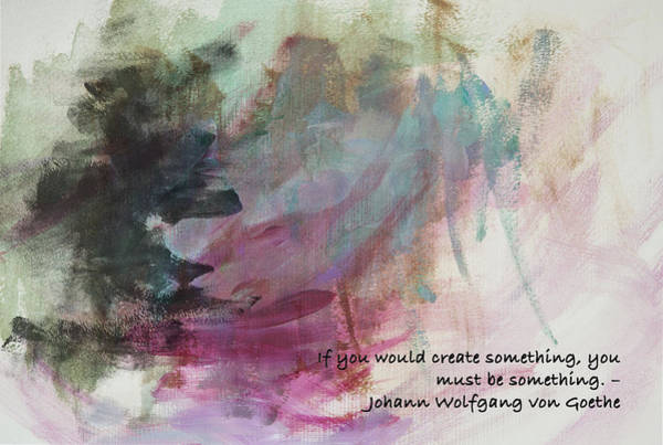 Create Digital Art - Famous Quotes Von Goethe by Patricia Lintner