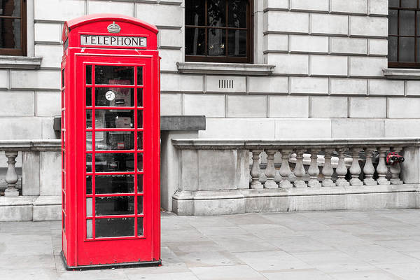 Photograph - Famous Red London Telephone Box by John Williams