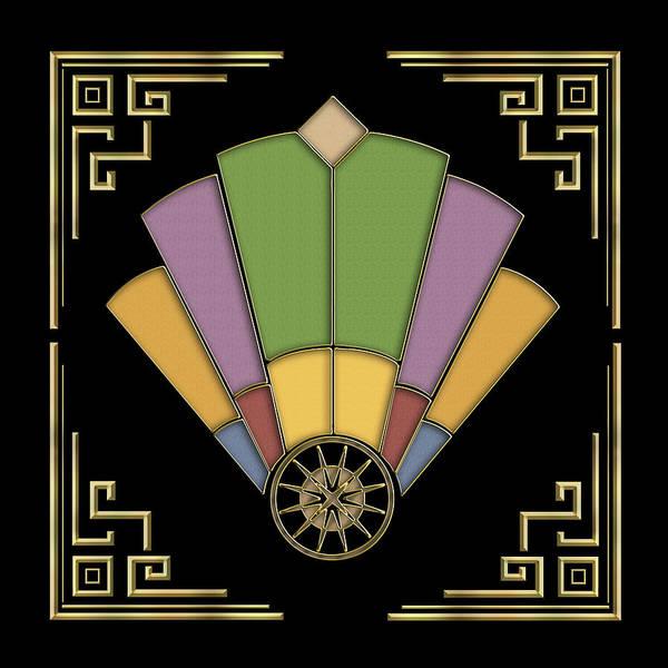 Digital Art - Fan 2 - Frame 2 - Black by Chuck Staley