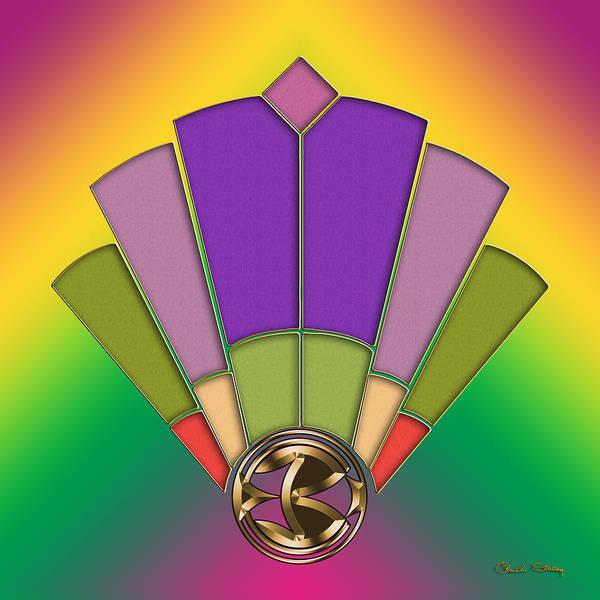 Digital Art - Fan 3 Background 1 by Chuck Staley