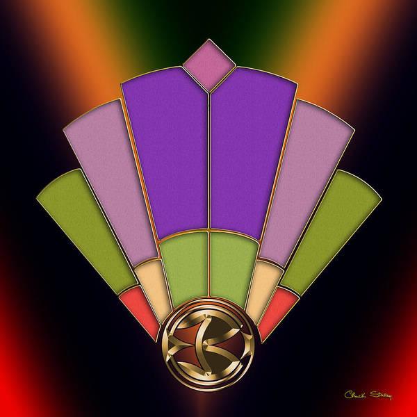 Digital Art - Fan 3 Background 2 Dark by Chuck Staley