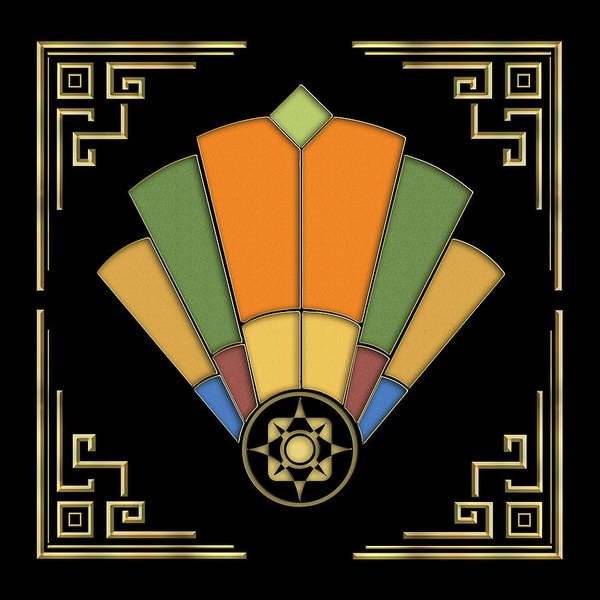 Digital Art - Fan 8 - Frame 2 - Black by Chuck Staley