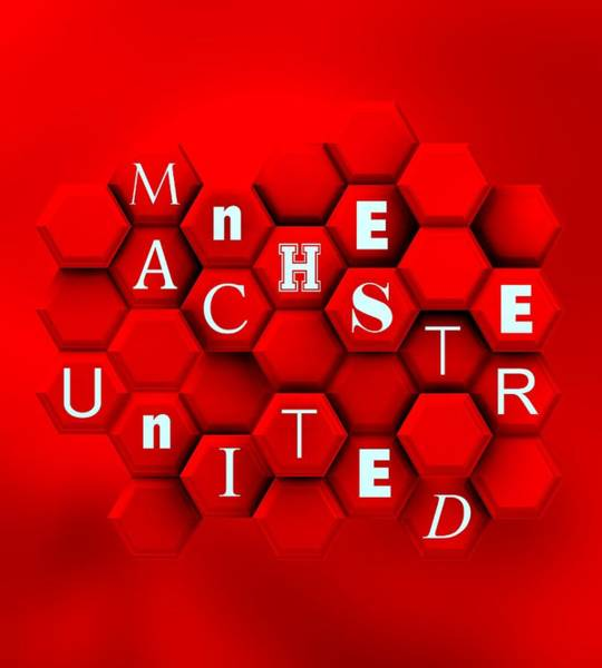 Digital Art - Fan Red Manchester United by Alberto RuiZ