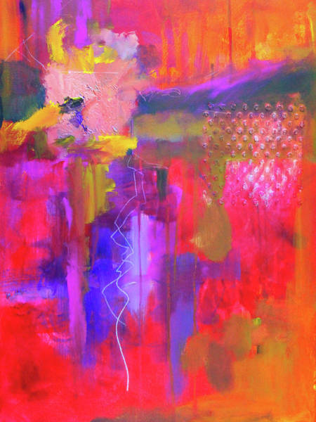 Painting - Fan The Flames Abstract by Nancy Merkle