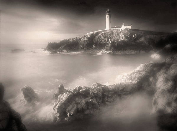 Photograph - Fanad Lighthouse In The Mist by Susan Maxwell Schmidt