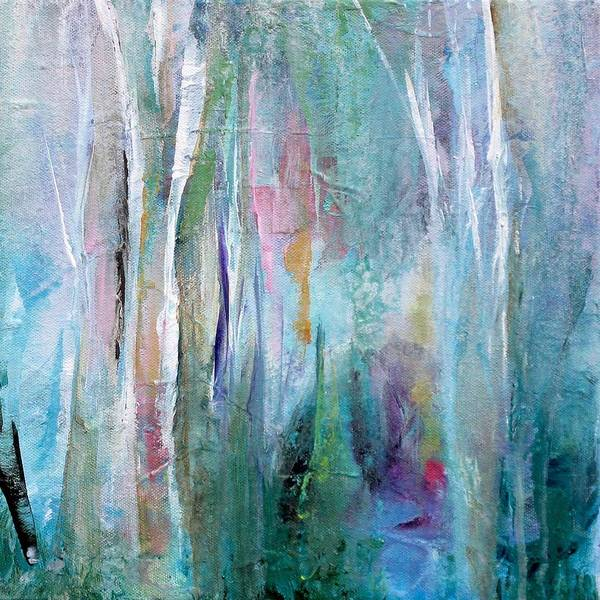 Wall Art - Painting - Fanciful Forest by Karen Hale