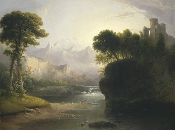 Wall Art - Painting - Fanciful Landscape by Thomas Doughty