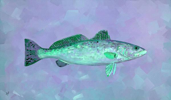 Digital Art - Fanciful Lavender Mint Sea Trout by Shelli Fitzpatrick