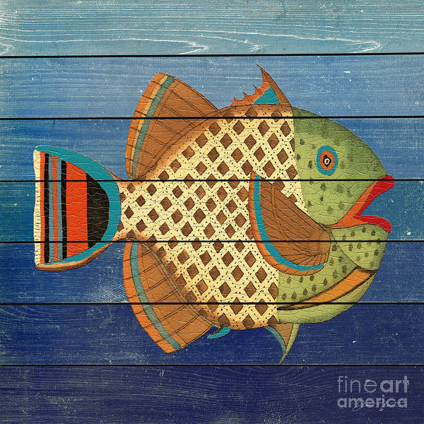 Nautical Digital Art - Fanciful Sea Creatures-jp3822 by Jean Plout