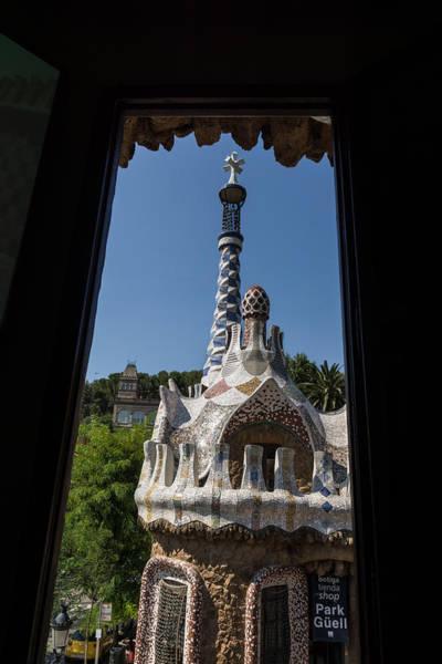 Photograph - Fanciful Trencadis Tilework - Antoni Gaudi Entrance Pavilion At Park Guell by Georgia Mizuleva