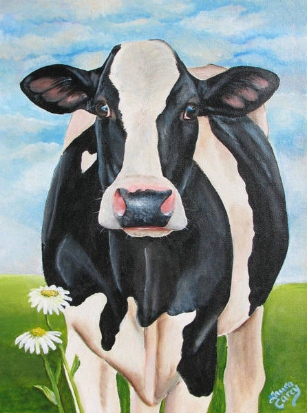 Holstein Wall Art - Painting - Fancy Fiona by Laura Carey