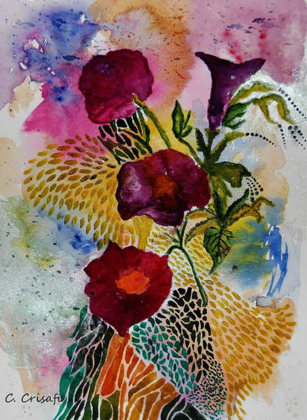 Painting - Fancy Florals by Carol Crisafi