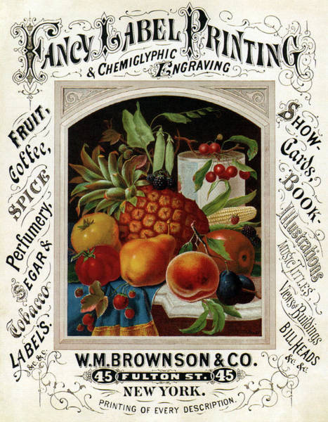 Wall Art - Mixed Media - Fancy Label Printing And  Chemiglyphic Engraving - Vintage Advertising Poster by Studio Grafiikka