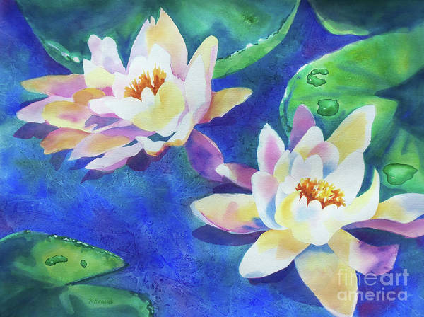 Wall Art - Painting - Fancy Waterlilies by Kathy Braud