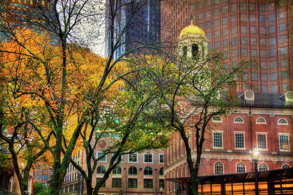 Photograph - Faneuil Hall In Fall - Boston Scenes by Joann Vitali